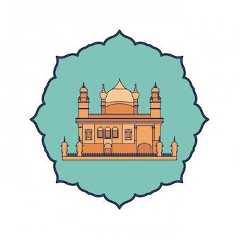 Bouw van amritsar gouden tempel en indische onafhankelijkheidsdag