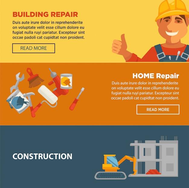 Bouw van gebouwen en huizenreparaties