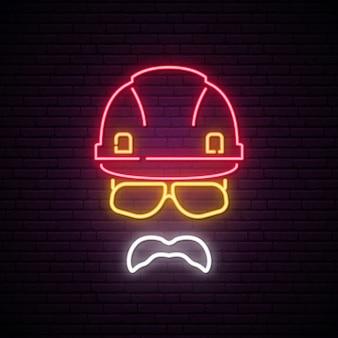 Bouwer neon bord.