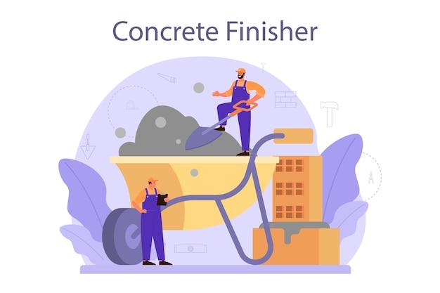 Bouwer van betonafwerkers.