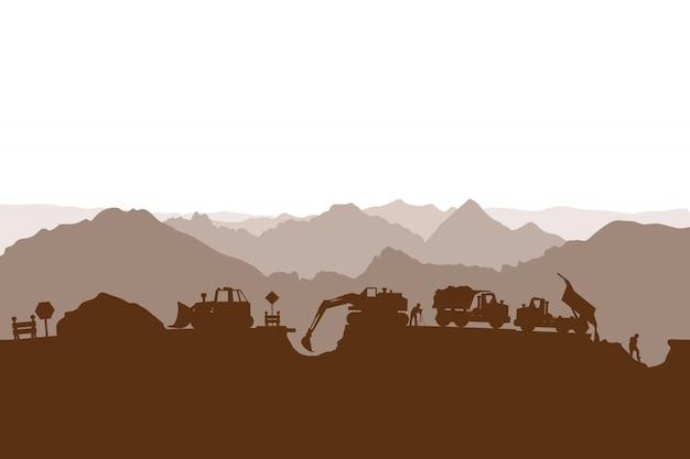 Bouwproces silhouet