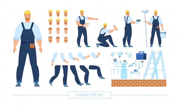 Bouwvakker character constructor vector