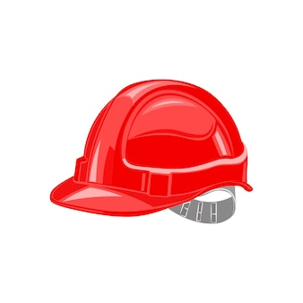Bouwvakker, veiligheidshelm bouwen, in aanbouw vector