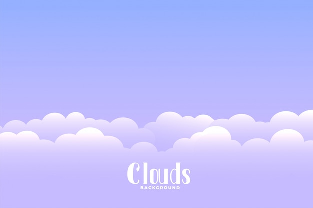 Boven de wolkenachtergrond met tekstruimte