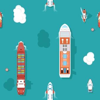 Bovenaanzicht os zeeschepen