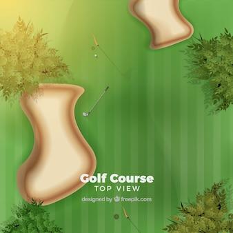 Bovenaanzicht van golfbaan