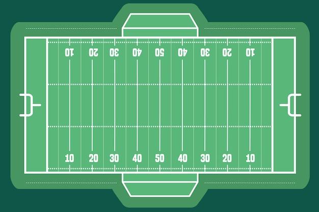 Bovenaanzicht van het amerikaanse voetbalveld