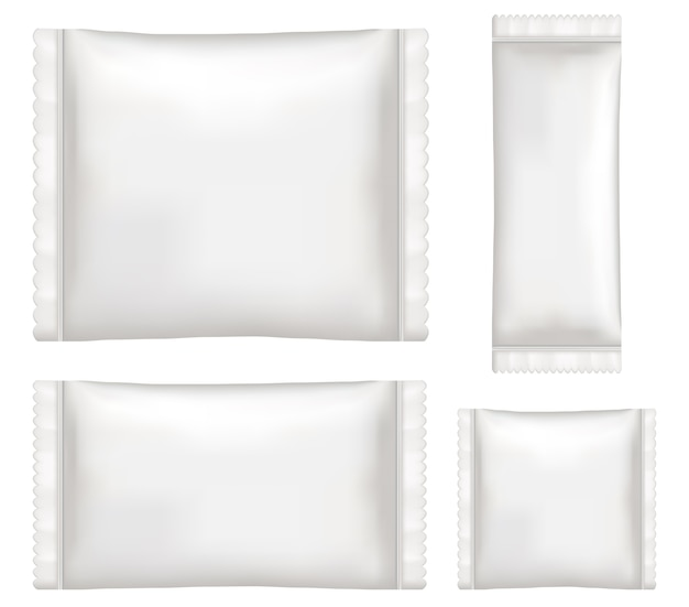 Bovenaanzicht van moduul van wit polystyreen en kunststof verpakking