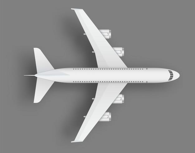 Bovenaanzicht vliegtuig