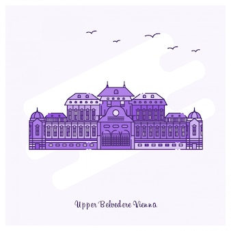 Bovenste belvedere vienna landmark