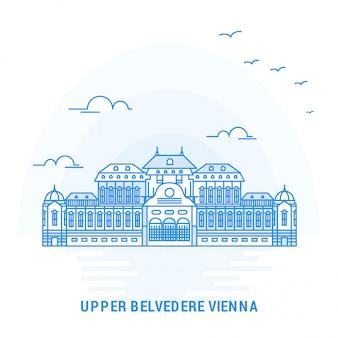Bovenste belvedere wenen blue landmark