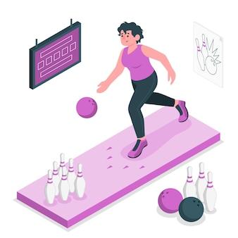 Bowling concept illustratie Gratis Vector