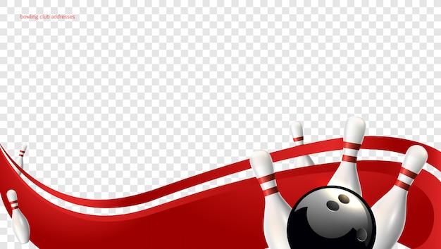 Bowling golf rode achtergrond