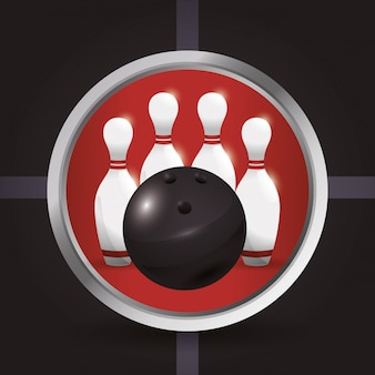 Bowling iconen ontwerp