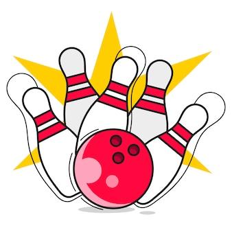 Bowling illustratie