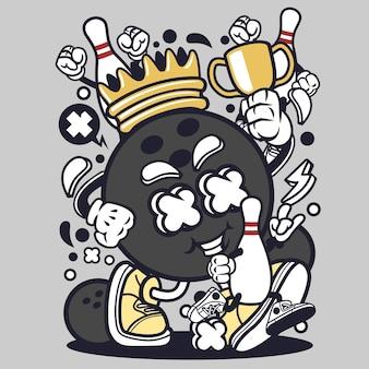 Bowling king cartoon