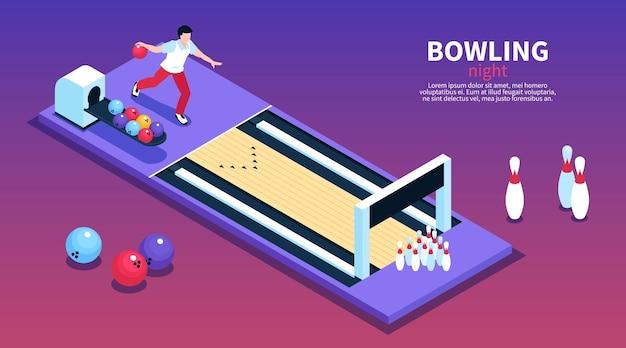 Bowling sjabloon voor spandoek