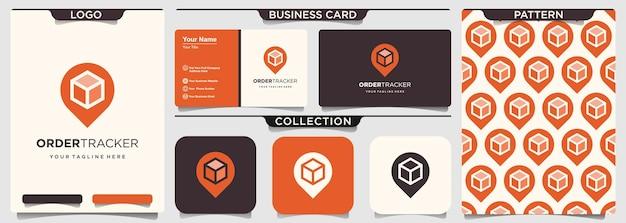Box combinatie kaart aanwijzer logo.