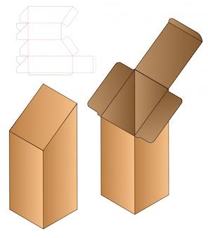 Box verpakking gestanst sjabloonontwerp.