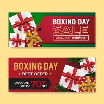 Boxing day banner sale-sjablonen