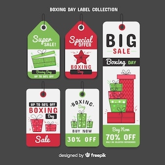 Boxing day labels verkoop collectie