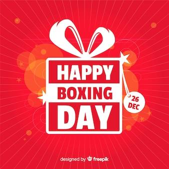 Boxing day verkoop achtergrond Gratis Vector