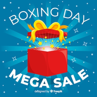 Boxing day verkoop achtergrond