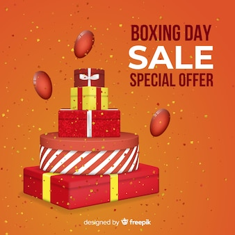 Boxing day verkoop banner