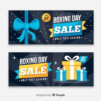 Boxing day verkoop banners