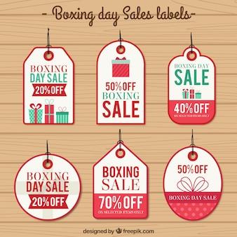 Boxing day verkoop etiketten