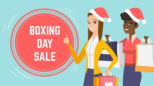 Boxing day verkoop evenement webpaginasjabloon.