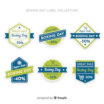 Boxing day verkoop label collectie met lint