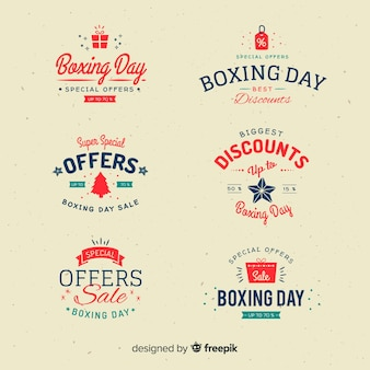 Boxing day verkoop label collectie
