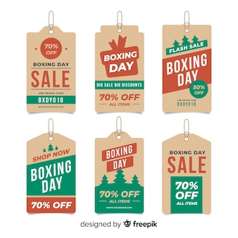 Boxing day verkoop label collectie