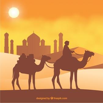 Boy en kameel