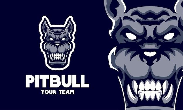 Boze doberman hoofd sport logo mascotte illustratie