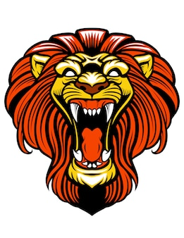 Boze leeuw brullende mascotte
