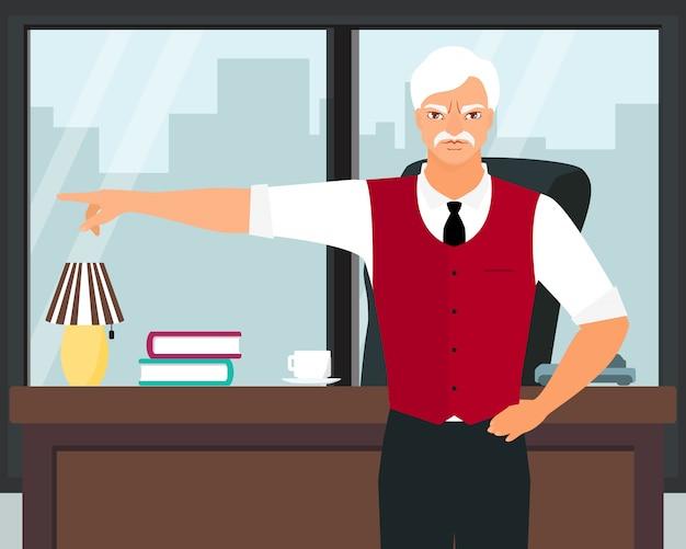 Boze werkgever die de vinger richt