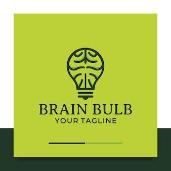 Brain bulb logo ontwerp denk idee
