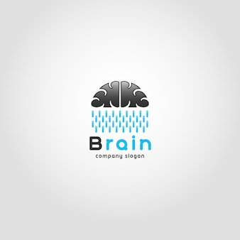 Brain rain logo sjabloon