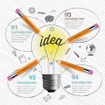 Brainstorm concept infographic.