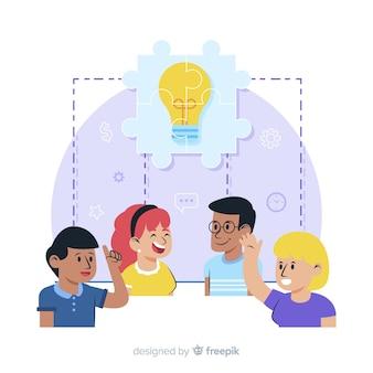 Brainstormen concept voor bestemmingspagina