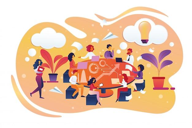 Brainstormen en zoeken naar nieuw ideeconcept.
