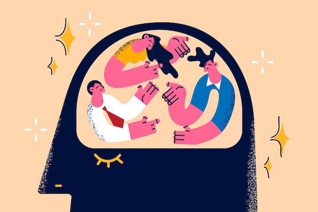 Brainstormen groot idee en teamwork concept