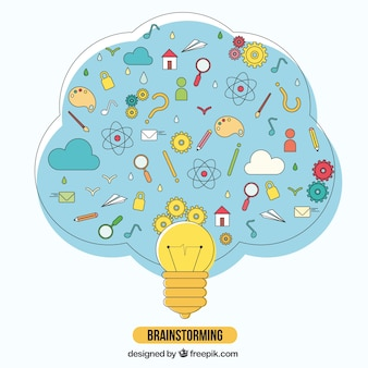 Brainstormen illustratie