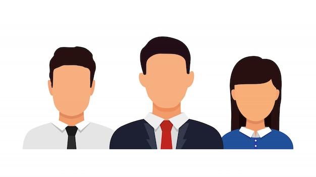 Brainstormen in team. pictogram sociale netwerken. pratende mensen