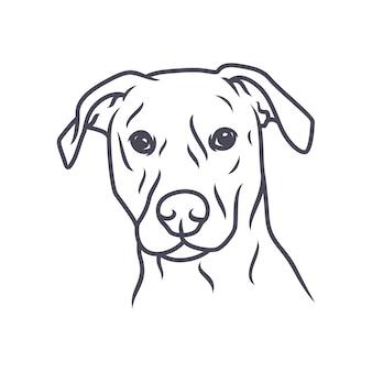Brakhond - vectorembleem / pictogramillustratiemascotte