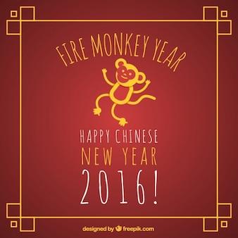Brand aap jaar achtergrond