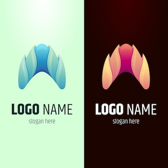 Brand eerste letter a logo variaties