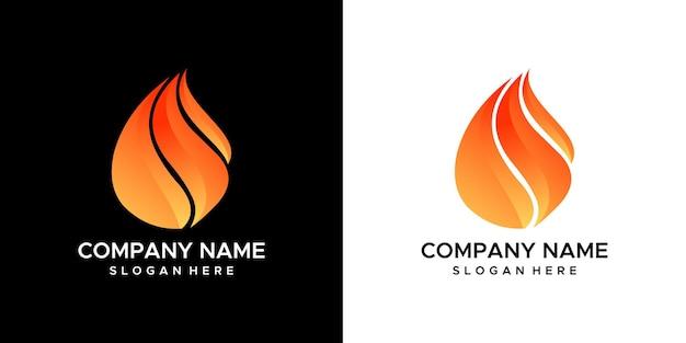 Brand logo ontwerp vector